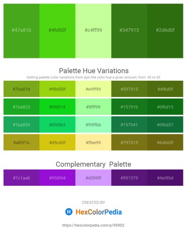 Palette image download - Olive Drab – Lawn Green – Pale Green – Forest Green – Forest Green