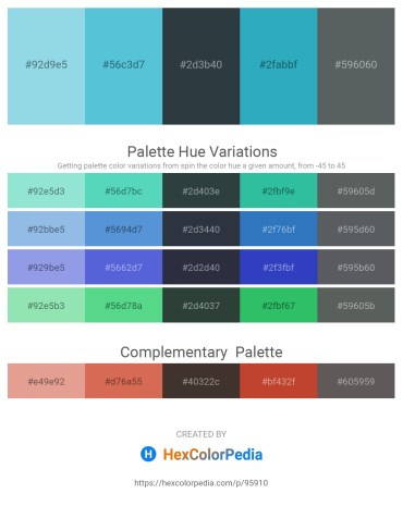 Palette image download - Sky Blue – Medium Turquoise – Dark Slate Gray – Light Sea Green – Slate Gray