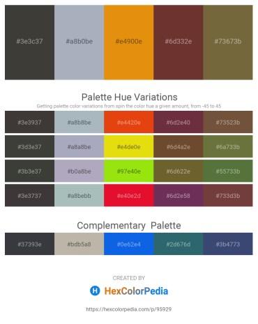 Palette image download - Dim Gray – Light Slate Gray – Dark Orange – Sienna – Dark Olive Green