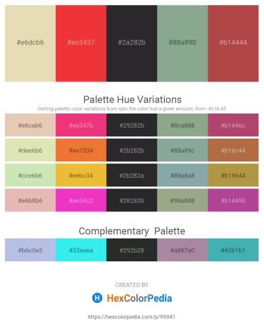 Palette image download - Beige – Crimson – Dark Slate Gray – Dark Sea Green – Sienna