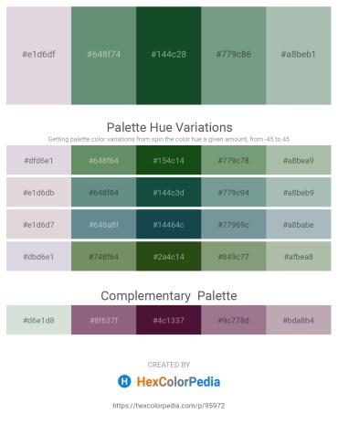 Palette image download - Thistle – Cadet Blue – Dark Olive Green – Cadet Blue – Dark Sea Green