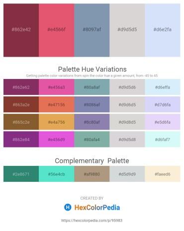 Palette image download - Brown – Pale Violet Red – Light Slate Gray – Light Gray – Lavender