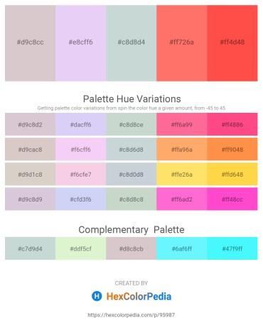 Palette image download - Thistle – Lavender – Light Steel Blue – Salmon – Tomato