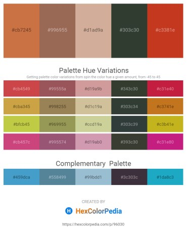 Palette image download - Peru – Rosy Brown – Tan – Dark Slate Gray – Firebrick