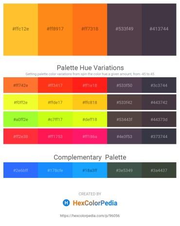 Palette image download - Gold – Dark Orange – Dark Orange – Dim Gray – Dark Slate Gray