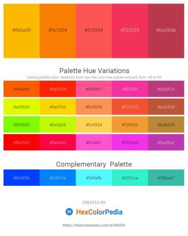 Palette image download - Orange – Dark Orange – Tomato – Crimson – Brown