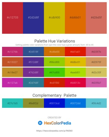 Palette image download - Firebrick – Dark Slate Blue – Orange – Dark Orange – Indian Red