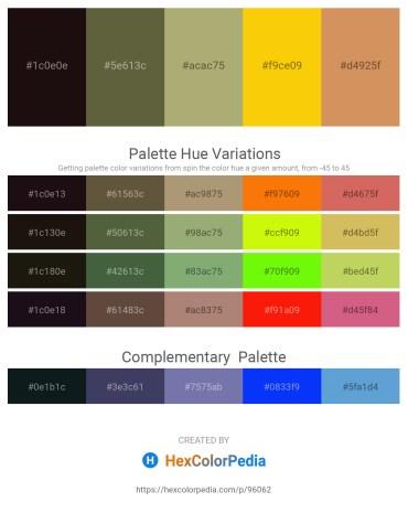 Palette image download - Black – Dark Olive Green – Dark Khaki – Gold – Peru