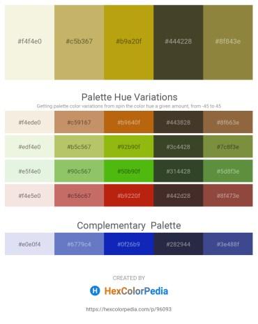 Palette image download - Beige – Dark Khaki – Dark Goldenrod – Dark Olive Green – Dark Olive Green