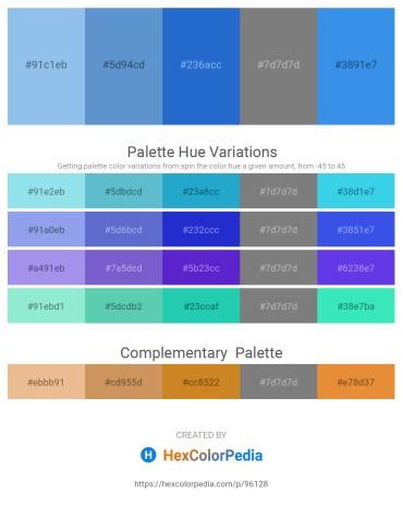 Palette image download - Sky Blue – Steel Blue – Royal Blue – Gray – Royal Blue