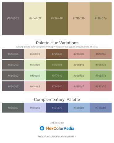 Palette image download - Dim Gray – Beige – Dark Olive Green – Tan – Dark Khaki