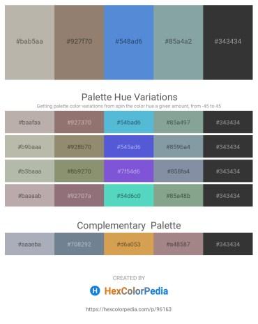 Palette image download - Dark Gray – Gray – Royal Blue – Light Slate Gray – Black