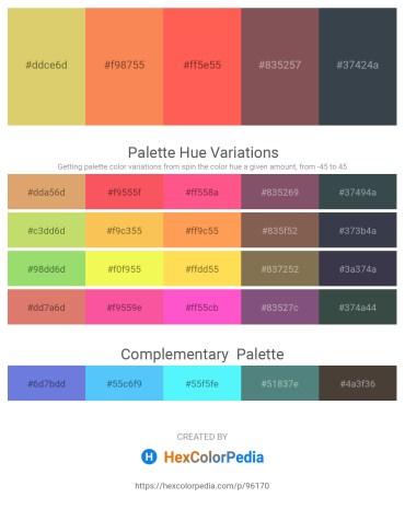 Palette image download - Burlywood – Coral – Tomato – Dim Gray – Dark Slate Gray