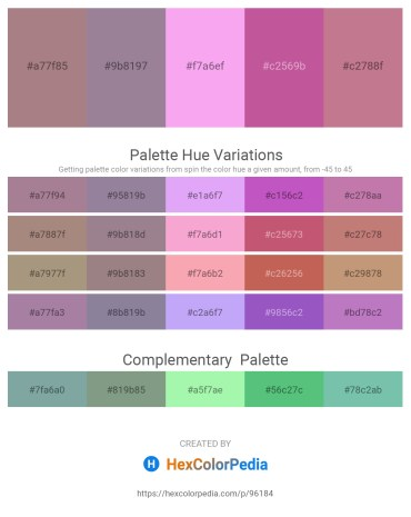 Palette image download - Rosy Brown – Gray – Violet – Pale Violet Red – Rosy Brown