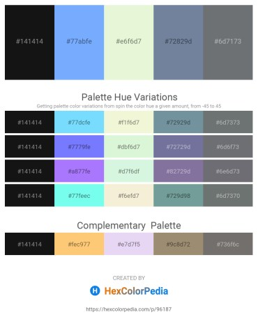 Palette image download - Black – Light Sky Blue – Beige – Light Slate Gray – Slate Gray