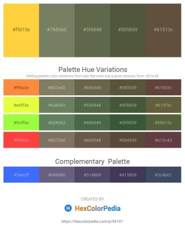 Palette image download - Gold – Dim Gray – Dark Olive Green – Dark Olive Green – Dark Olive Green