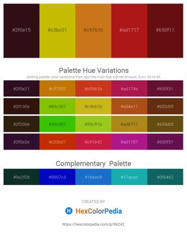 Palette image download - Lime Green – Dark Goldenrod – Chocolate – Firebrick – Saddle Brown