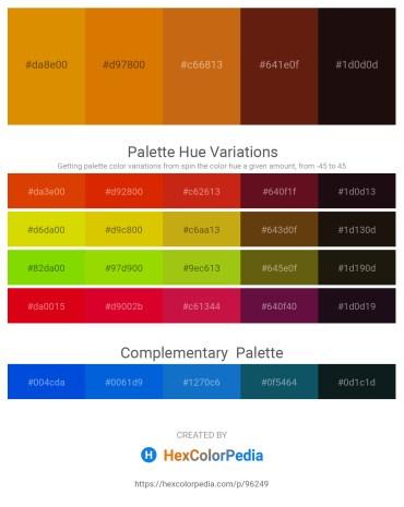 Palette image download - Dark Orange – Dark Orange – Chocolate – Saddle Brown – Black