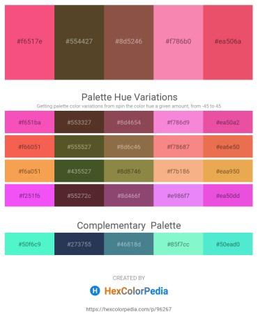 Palette image download - Salmon – Deep Pink – Sienna – Hot Pink – Light Coral