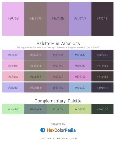 Palette image download - Lavender – Gray – Gray – Light Steel Blue – Light Slate Gray
