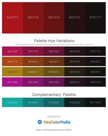 Palette image download - Firebrick – Saddle Brown – Saddle Brown – Black – Black