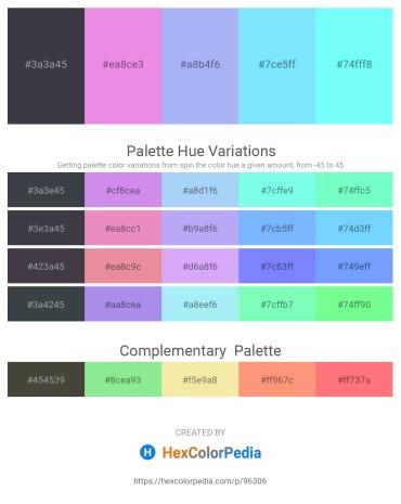 Palette image download - Dark Slate Gray – Violet – Light Sky Blue – Light Sky Blue – Aquamarine