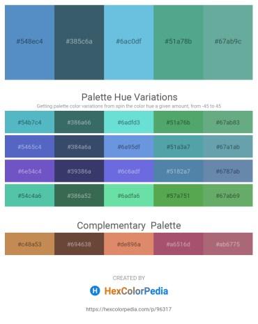 Palette image download - Steel Blue – Dark Slate Gray – Sky Blue – Cadet Blue – Cadet Blue