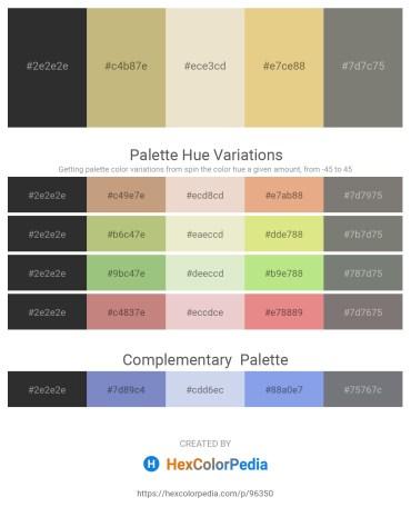 Palette image download - Black – Dark Khaki – Beige – Burlywood – Gray