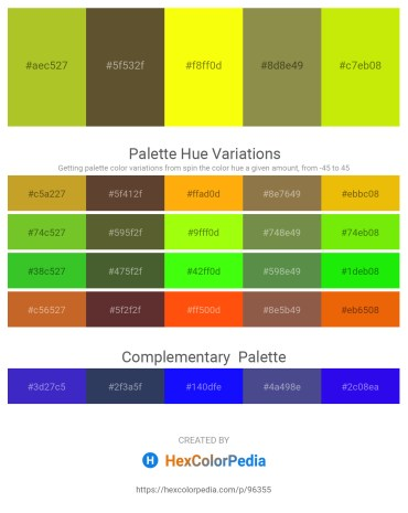Palette image download - Yellow Green – Dark Olive Green – Yellow – Dark Olive Green – Yellow