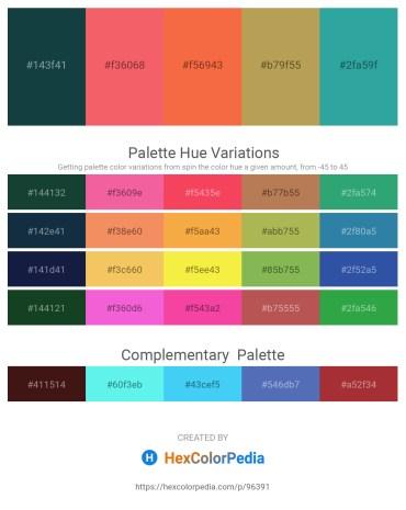 Palette image download - Midnight Blue – Salmon – Tomato – Dark Khaki – Light Sea Green