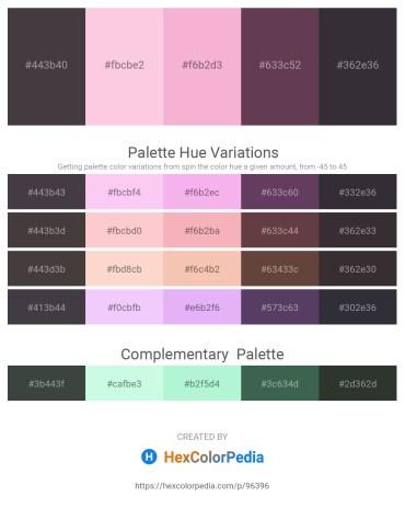 Palette image download - Dim Gray – Pink – Violet – Dark Khaki – Black