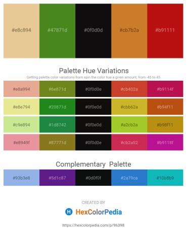 Palette image download - Burlywood – Olive Drab – Black – Peru – Firebrick