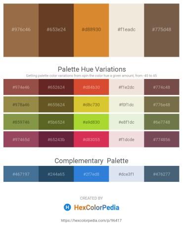 Palette image download - Sienna – Dim Gray – Peru – Beige – Tan