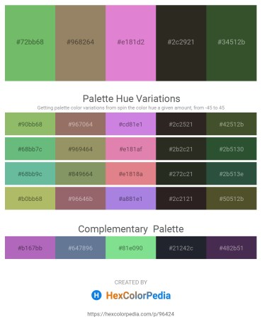 Palette image download - Dark Sea Green – Gray – Orchid – Black – Dark Olive Green