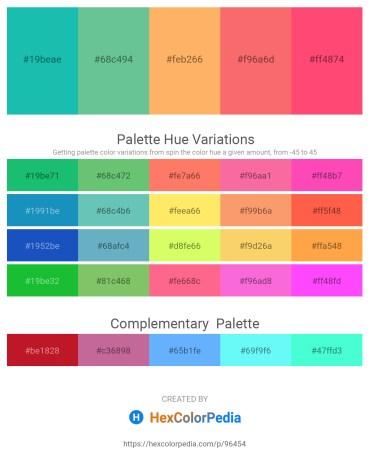 Palette image download - Light Sea Green – Medium Aquamarine – Light Salmon – Salmon – Tomato