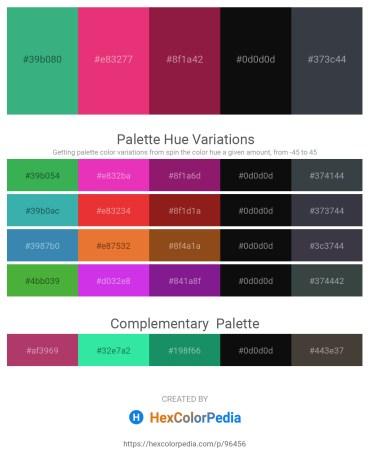 Palette image download - Medium Sea Green – Medium Violet Red – Firebrick – Black – Dark Slate Gray