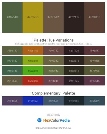 Palette image download - Dark Olive Green – Dark Goldenrod – Orange – Black – Saddle Brown
