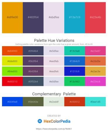 Palette image download - Orange – Dark Slate Blue – Light Steel Blue – Light Sea Green – Crimson