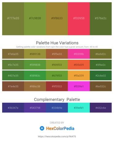 Palette image download - Dark Olive Green – Olive Drab – Indian Red – Crimson – Dark Olive Green