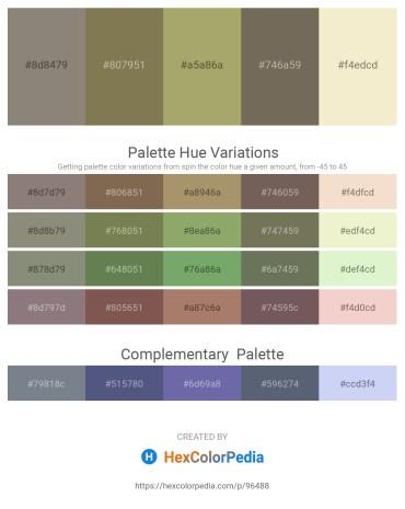 Palette image download - Gray – Dark Olive Green – Dark Khaki – Dim Gray – Beige