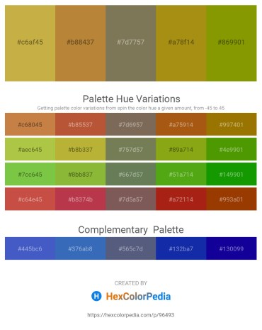 Palette image download - Thistle – Peru – Dim Gray – Dark Goldenrod – Olive