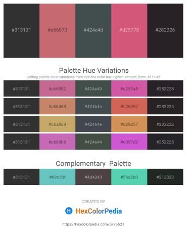 Palette image download - Black – Indian Red – Dark Slate Gray – Indian Red – Black