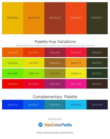Palette image download - Orange – Dark Orange – Brown – Chocolate – Dark Olive Green