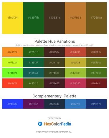 Palette image download - Gold – Forest Green – Light Slate Gray – Peru – Saddle Brown