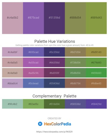 Palette image download - Rosy Brown – Slate Blue – Dark Slate Blue – Dark Khaki – Beige