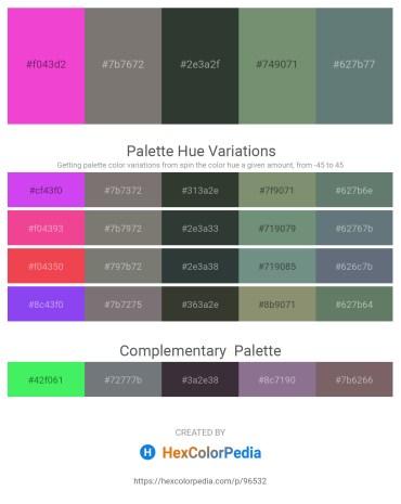 Palette image download - Hot Pink – Gray – Dark Slate Gray – Dark Sea Green – Slate Gray