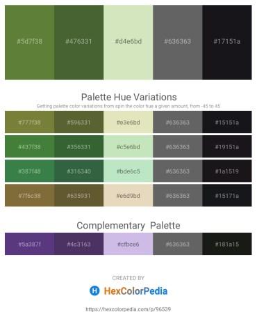 Palette image download - Dark Olive Green – Dark Olive Green – Beige – Dim Gray – Cadet Blue