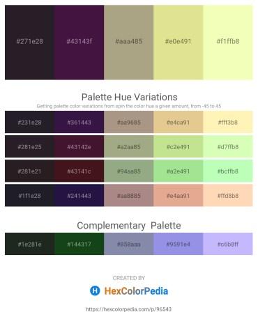 Palette image download - Black – Gray – Light Salmon – Pale Goldenrod – Lemon Chiffon