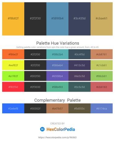 Palette image download - Orange – Dark Slate Gray – Steel Blue – Dark Slate Gray – Dark Khaki