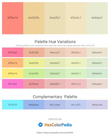 Palette image download - Light Salmon – Khaki – Pale Goldenrod – Pale Goldenrod – Beige